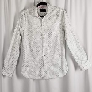 CACTUS shirt casual slim fit white and blue size S